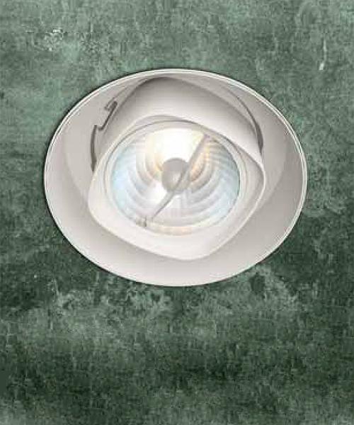 0301155360007 Leucos Studio светильник встраиваемый потолочный SD-401, D 7,7см, 1х50W GU5.3, бел