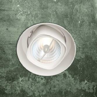 0301157360012 Leucos Studio светильник встраиваемый потолочный SD-403, D 18,4см, 1х75W G53, белы