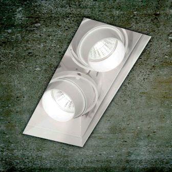 0301171360007 Leucos Studio встраиваемый потолоч свет-ник SD602, 22х8см, 2х50W GU5,3, белый мета