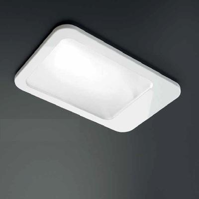 0301280363404 LeucosStudioСветильник встраиваемый Zero, прозрачное стекло, сатинированная внутре