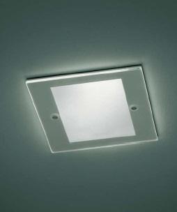 0301301013507 Leucos Studio встраиваемый потолоч свет-ник SD101, прозрач стекло частично матовое