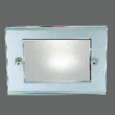 0301301053507 Leucos Studio встраиваемый потолоч свет-ник SD101, прозрач стекло частично матовое