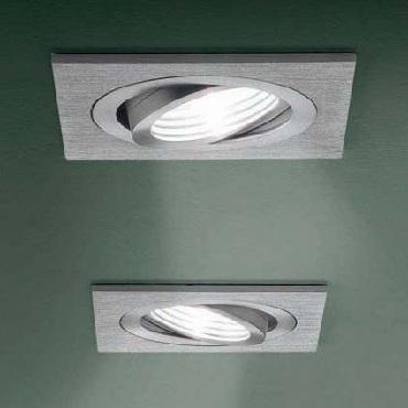 0301328100007 Leucos Studio встраиваемый потолоч свет-ник SD902, 9х9см, 1х50W GU5,3, тертый алюм