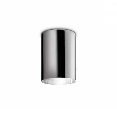 0302254380002 Leucos Studio потолочный светильник DOT, черный, диам 14см, 1х75W halopar 30, хром