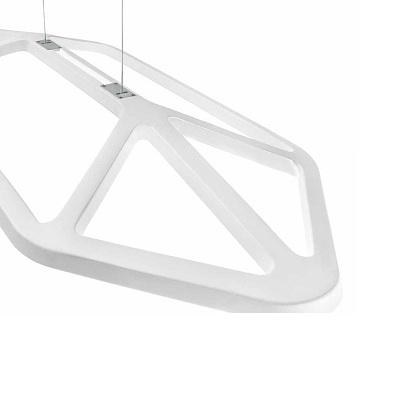 0303235363049 Leucos Studio AKI S LED 40W LEGNO OKUME' BIANCO