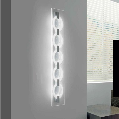 0304307373532 Leucos Studio бра/свет-ник потолочный O-Sound 1, прозрачный, прозрачная панель, 29