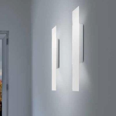 0305260363610 Leucos Studio бра Isis, белое матовое стекло, 7,5*60*7,5см, 2*50W GU10, белый мато