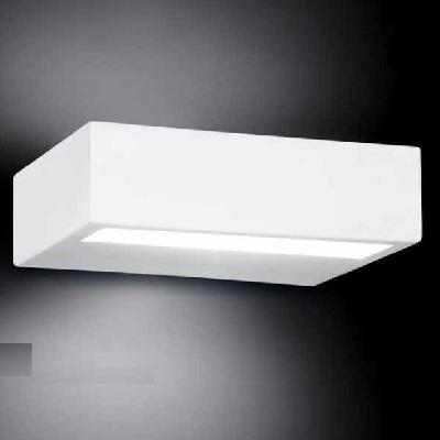 0305308363505 Leucos Studio бра Alias 35, стекло pirex матовое, 35x12cм, 2x250W R7s 114мм, белый