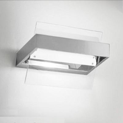 0305315013405 Leucos Studio бра Ala, прозрачное стекло, 25x17cм, 1x150W R7s 114мм, хром