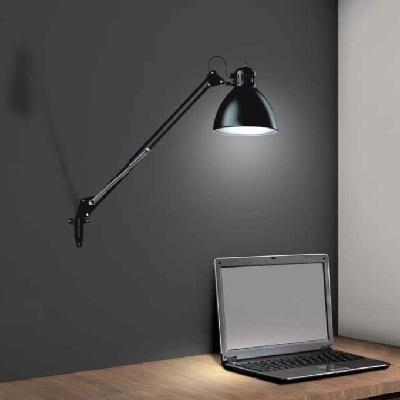 0313174380002 Leucos Studio бра/настольная лампа JJ M New, D16х8х75см, 1х46W E27, металл покрыты