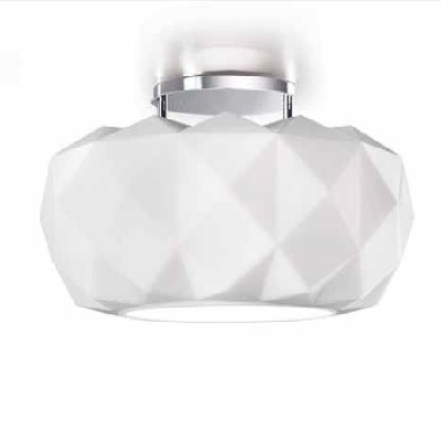 0402283013605 Leucos Idea Светильник потолочный Deluxe 50 PL, белый, разм. 50х27х19см, 1x200W R7