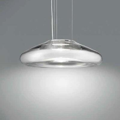 0403103523649 Leucos Idea светильник подвесной Keyra 30 S, дутое стекло, частично декорированный