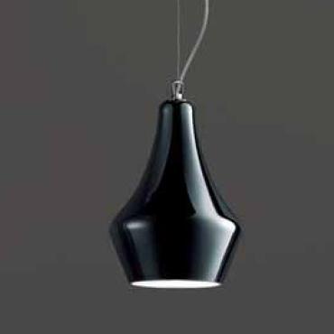 0403120383802 Leucos Idea светильник подвесной Alma 60S, черный, 44*60см, выс max 150см, 1x100W
