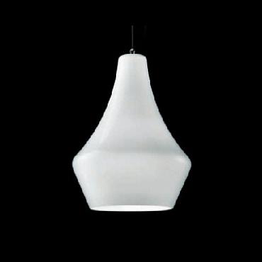 0403121363601 Leucos Idea светильник подвесной Alma 30S, белый плафон, D 22см, Н 150см, 1x60W E1