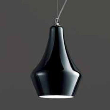 0403121383801 Leucos Idea светильник подвесной Alma 30S, черный плафон, D 22см, Н 150см, 1x60W E