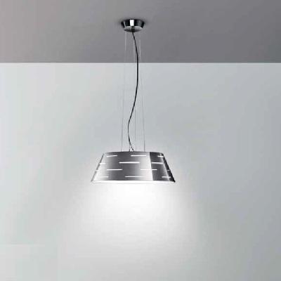"""0403282013305 Leucos Studio Светильник подвесной """"Mirage S""""1х300W R7s 114mm H120cm, D45cm хром/с"""