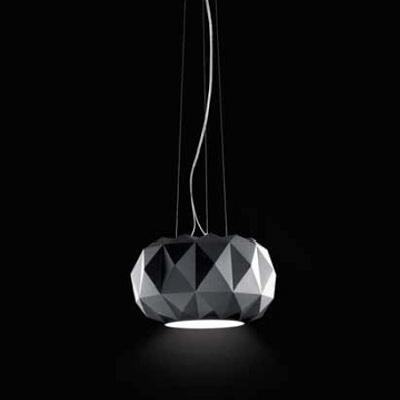 0403283013804 Leucos Idea светильник подвесной Deluxe 35 S, черный плафон, D 35см, H 20+120с