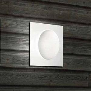 0404045363502 Leucos Studio бра/потолочный светильник Gio 40 P PL, белое/мат.стекло, 40x40x16, 2