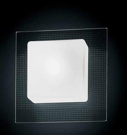 0404067373409 Leucos Studio бра/светильник потолочный Quadra MINI P PL, хрусталь, 18*18см, 1х40W