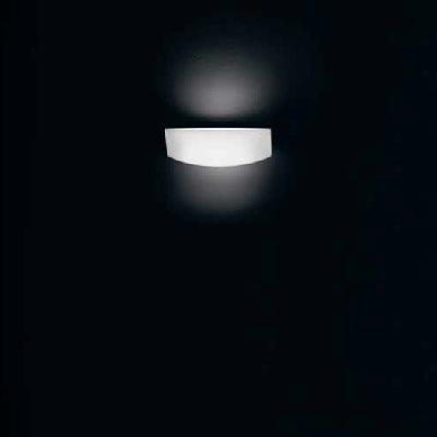 0405261053605 Leucos Idea бра Link P, белое стекло, 25x8,5x15 1х150W R7s 114mm, никель матовый