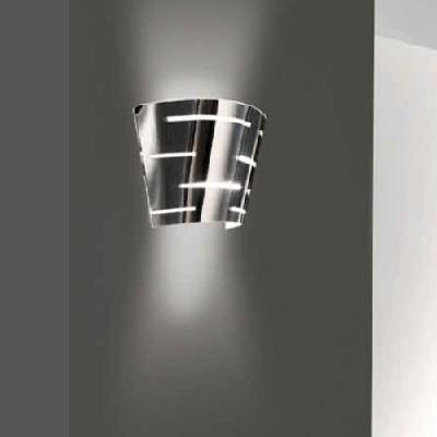 """0405282363305 Leucos Studio Бра """"Mirage P""""1х150W R7s 114mm H15cm, D35,5cm бел.лакир.мет./стекло"""