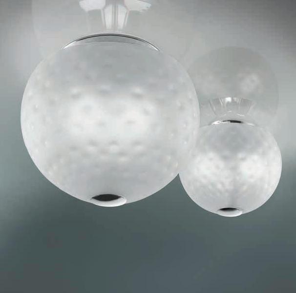 0502095013402 Leucos Studio светильник потолочный Derby 35, стекло прозрачное, диам 35см, выс 28