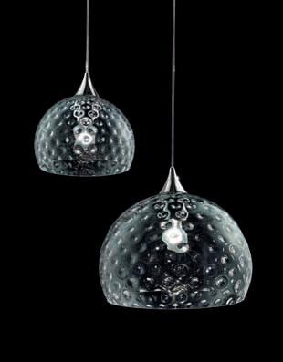 0503095013402 Leucos Studio подвес Derby 25, прозрачное стекло, диам 25см, выс 24/max 170см, 1x1