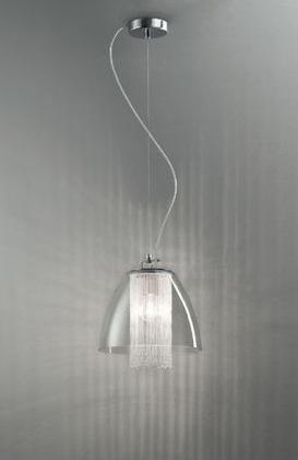 0503219053402 Leucos Studio подвес Lulu grande, прозрачное стекло + прозрачные детали, диам