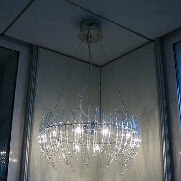 0503321013406 Leucos Studio подвес Salome 12, прозрачное стекло, диам 60см, max выс 120см, 12хG4