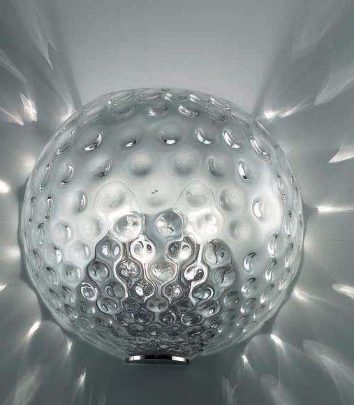 0505095013401 Leucos Studio бра Derby 25, стекло прозрачное, диам 12см, длин. 25см, выс 22см, 2х