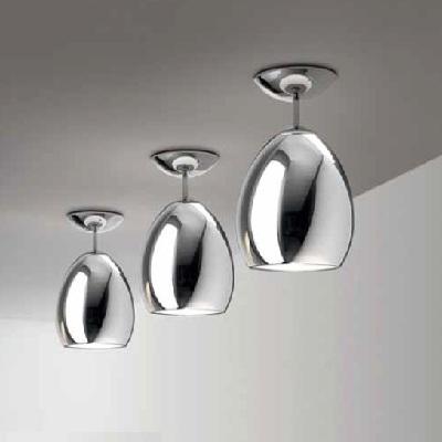 0702073013302 Leucos Idea светильник потолочный Golf PL/SP хромированный хрусталь, D17см, H25см,