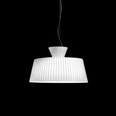 0703095165202 Leucos светильник подвесной Katerina S50, белый блестящий абажур, D 50см, Н 31/мах