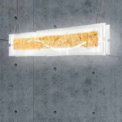 Светильник потолочныйLAGUNA S105 G5 CANAL BIANCO PERL/FOGLIA ORO