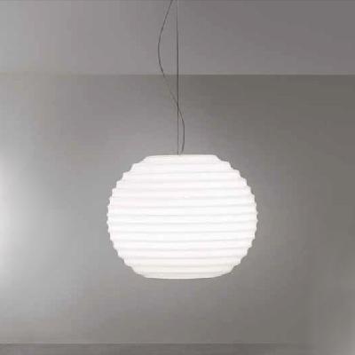 0703152165202 Leucos Idea светильник подвесной Modulo S35, белый блестящий плафон, D35см, H32&#4