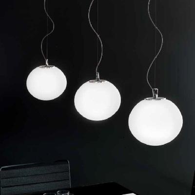 0703219013602 Leucos светильник подвесной Sphera S29, белое матовое стекло, диам 29см, выс max 2