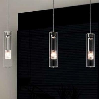 0703261013415 Leucos светильник подвесной FAIRY S C, прозрачное стекло, D 8см, Н 33 мах200см, 1х