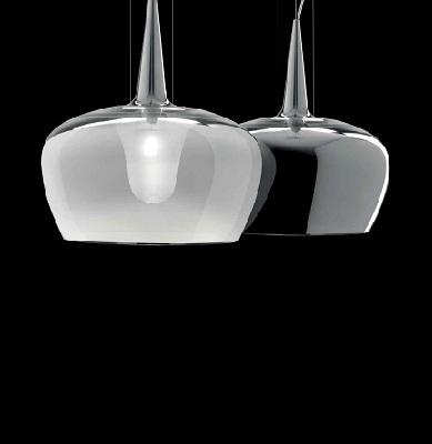 Светильник потолочный WITCH S E27 GRIGIO LUCIDO/STR. CROMO