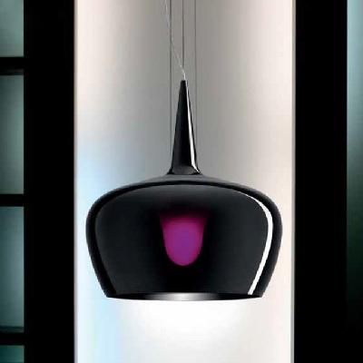 0703305565602 Leucos Idea светильник подвесной Witchчерное прозрачное стекло, D44см, H25+200