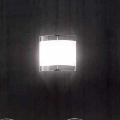 0704199015202 Leucos Idea светильник настенно-потолочный Selis PP45 TH, белое блестящее стекло с