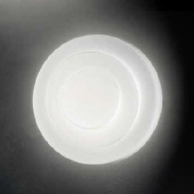 0704288363602 Leucos Idea светильник потолочный LOOP Line 32, белое стекло, D32см H8см, 2х23W E2