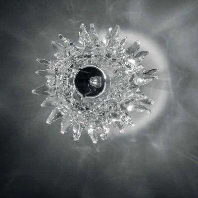 0704323013409 Leucos светильник потолочный Kuk PP, прозрачное стекло, D 17см, Н 11см, 1х48W G9,