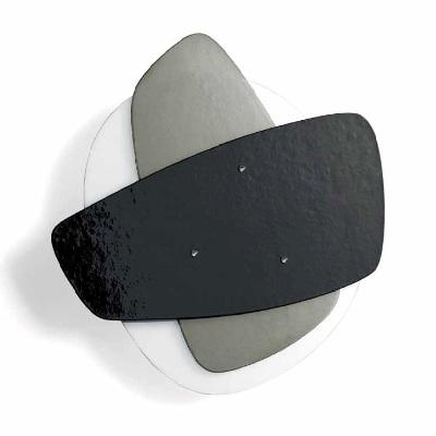 0704326362232 Leucos Idea бра Solea, 68х65х11см, 1x55W 2Gx13, серое и черное стекло, белая армат
