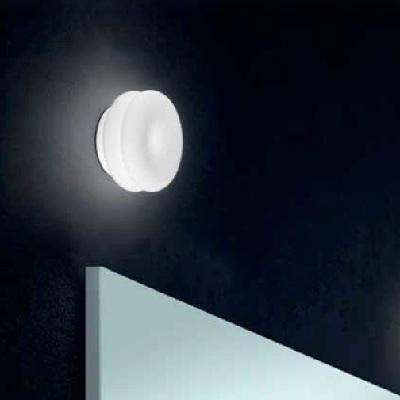 Светильник настенныйWIMPY 16 PP LED ALLUMINIO/BIANCO SATINATO