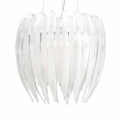 0705054015209 Leucos бра Dracena P60, стекло-белый шелк, 56х60х30см, 3x75W G9+1x50W GU10, хр