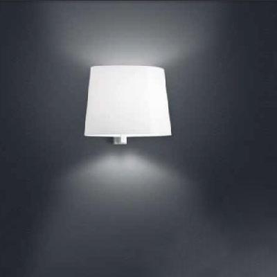0705120365202 Leucos Idea бра Marlowe P белый блестящий абажур, 30х26х21см, 1х100W Е27, белая ар
