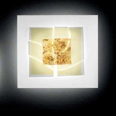 Светильник настенный LAGUNA P60 2GX13 DEC.DELTA BIANCO+ORO+PERLINE