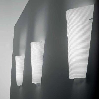 Светильник настенный TODD P G9 BIANCO LUC.- RIGATO STR. CROMATA