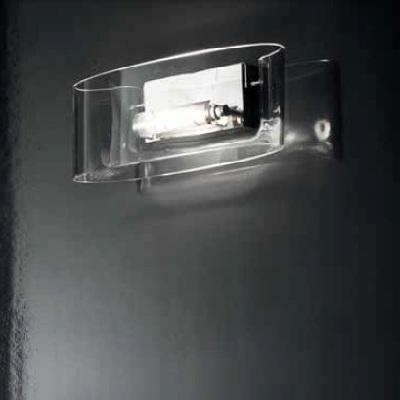 0705248013404 Leucos бра Vittoria P2/C, прозр стекло, 15х13х33см, 1х150W R7s 78mm, хром