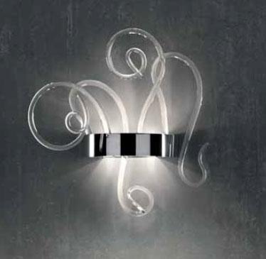 0705290013409 Leucos бра Aspid P35, прозрачное стекло, 27х35х70см, 2x60W G9+3x35W GU10, хром