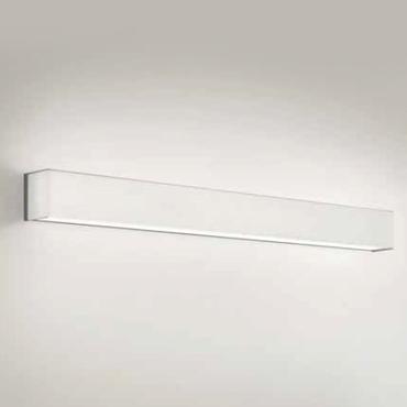 0705306083620 Leucos Idea бра Block P65, белое стекло, 65х8,5х8,5см G5 2x24W, арматура белая ста